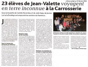 23 élèves de Jean Valette voyagent