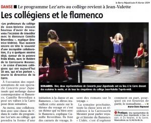 les collégiens et le flamenco