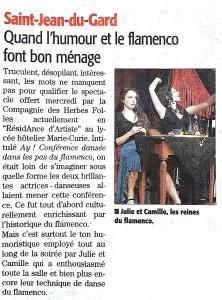 Midi libre - 2013-03-13 - Cie Les Herbes folles